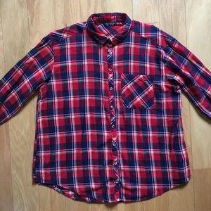 Topshop Flannel Top